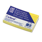 Ruled Index Cards, 3 x 5, Canary, 100/Pack ESS7321CAN