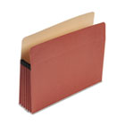 "100% Recycled Paper, Expansion File Pocket, 5 1/4"" Expansion, Letter, Red Fiber ESSE1534G"