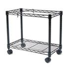 High-Capacity Rolling File Cart, 24w x 14d x 20-1/2h, Black FEL45081
