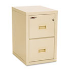 Turtle 2-Drawer File, 17-3/4w x 22-1/8d, UL Listed 350° for Fire, Parchment FIR2R1822CPA