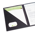 Report Cover w/Clear Interior Pocket, 8-1/2 x 11, Black, 4/Pack GBC21526