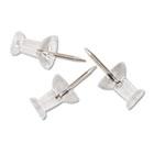 """Plastic Head Push Pins, Plastic, Clear, 3/8"""", 100/Box GEMCP20"""