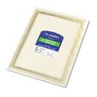 Foil Enhanced Certificates, 8-1/2 x 11, Gold Flourish Border, 12/Pack GEO45492