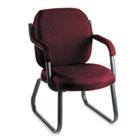 Commerce Series Guest Arm Chair, Sled Base, Rhapsody Burgundy Fabric GLB4735BKPB07