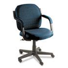 Commerce Series Low-Back Swivel/Tilt Chair, Ocean Blue Fabric GLB4737BKPB08