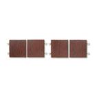 Genoa Series Doors For Hutch, 68-5/8w x 18-5/8h, Mahogany, 4/Set GLBGDOOR66QTM