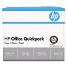 Office Paper, 92 Brightness, 20lb, 8-1/2 x 11, White, 2500 Sheets/Carton HEW112103