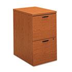 10500 Series File/File Mobile Pedestal, 15-3/4w x 22-3/4d x 28h, Bourbon Cherry HON105104HH