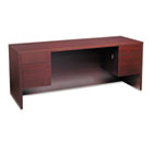 10500 Series Kneespace Credenza With 3/4-Height Pedestals, 72w x 24d, Mahogany HON10543NN