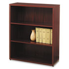 10500 Series Laminate Bookcase, Three-Shelf, 36w x 13-1/8d x 43-3/8h, Mahogany HON105533NN