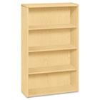 10700 Series Wood Bookcase, Four-Shelf, 36w x 13-1/8d x 57-1/8h, Natural Maple HON10754DD