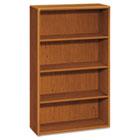 10700 Series Wood Bookcase, Four-Shelf, 36w x 13-1/8d x 57-1/8h, Bourbon Cherry HON10754HH