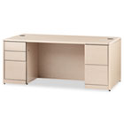 10700 Double Pedestal Desk With Full-Height Pedestals, 72w x 36d, Natural Maple HON10799DD