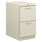 Flagship Mobile File/File Pedestal, Arch Pull, 22-7/8d, Light Gray HON18823AQ