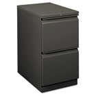 Flagship Mobile File/File Pedestal, Full Radius Pull, 22-7/8d, Charcoal HON18823RS