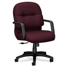 2090 Pillow-Soft Series Managerial Mid-Back Swivel/Tilt Chair, Wine Fabric/Black HON2092NT69T