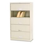 600 Series Six-Shelf Steel Receding Door File, 36w x 16-3/4d x 64-1/4h, Putty HON625CLL