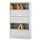 600 Series Six-Shelf Steel Receding Door File, 36w x 16-3/4d x 64-1/4h, Gray HON625CLQ