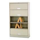 600 Series 5-Shelf Steel Receding Door File, Ltr, 36w x 13-3/4d x 75-7/8h, Putty HON625LL