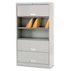 600 Series 5-Shelf Steel Receding Door File, Ltr, 36w x 13-3/4d x 75-7/8h, Gray HON625LQ