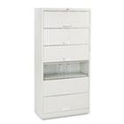 600 Series Six-Shelf Steel Receding Door File, 36 x 16-3/4 x 75-7/8, Light Gray HON626CLQ