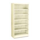 600 Series Steel Open Shelving, Six-Shelf, 36w x 16-3/4d x 75-7/8h, Putty HON626CNL