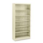 600 Series Steel Open Shelving, Six-Shelf, 36w x 13-3/4d x 75-7/8h, Putty HON626NL