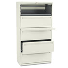 700 Series Five-Drawer Lateral File w/Roll-Out & Posting Shelf, 36w, Putty HON785LL