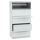 700 Series Five-Drawer Lateral File w/Roll-Out & Posting Shelf, 36w, Light Gray HON785LQ