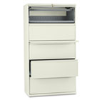 800 Series Five-Drawer Lateral File, Roll-Out/Posting Shelves, 36w x 67h, Putty HON885LL