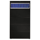 800 Series Five-Drawer Lateral File, Roll-Out/Posting Shelves, 36w x 67h, Black HON885LP