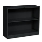 Metal Bookcase, Two-Shelf, 34-1/2w x 12-5/8d x 29h, Black HONS30ABCP