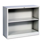 Metal Bookcase, Two-Shelf, 34-1/2w x 12-5/8d x 29h, Light Gray HONS30ABCQ