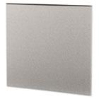 Simplicity II Systems Fabric Panel, 43w x 42d, Alumina Gray/Black HONSP4243CE18
