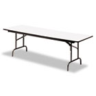 Premium Wood Laminate Folding Table, Rectangular, 60w x 30d x 29h, Gray/Charcoal ICE55217