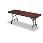 Premium Wood Laminate Folding Table, Rectangular, 96w x 30d x 29h, Mahogany ICE55234