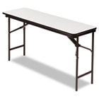 Premium Wood Laminate Folding Table, Rectangular, 60w x 18d x 29h, Gray/Charcoal ICE55277