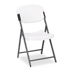 Rough N Ready Resin Folding Chair, Steel Frame, Platinum ICE64003