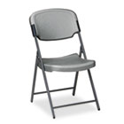 Rough N Ready Series Resin Folding Chair, Steel Frame, Charcoal ICE64007