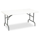 IndestrucTables Too 1200 Series Resin Folding Table, 60w x 30d x 29h, Platinum ICE65213
