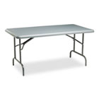 IndestrucTables Too 1200 Series Resin Folding Table, 60w x 30d x 29h, Charcoal ICE65217