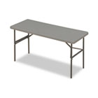 IndestrucTables Too 1200 Series Resin Folding Table, 60w x 24d x 29h, Charcoal ICE65377