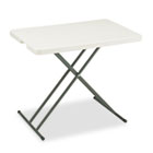 IndestrucTables Too 1200 Series Resin Personal Folding Table, 30 x 20, Platinum ICE65490