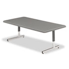 Adjustable Height Tables, 48w x 24d x 21-31h, Charcoal ICE65737