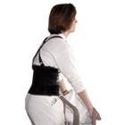 "Standard Back Support, 7"" Back Panel, Single Closure w/Suspenders, Large, Black IMP7379L"