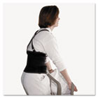 "Standard Back Support, 7"" Back Panel, Single Closure, Suspenders, Medium, Black IMP7379M"