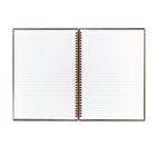 Twinwire Hardcover Notebook, Legal Rule, 8-1/2 x 11, White, 70 Sheets JDKK67030