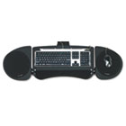 Adjustable Articulating Underdesk Keyboard Platform, 24-1/2w x 12-1/2d, Black KMW60044
