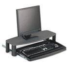 Over/Under Keyboard Drawer with SmartFit System, 14-1/2w x 23d, Black KMW60717