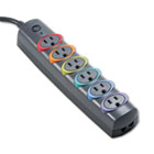 SmartSockets Color-Coded Strip Surge Protector, 6 Outlets, 6ft Crd KMW62146